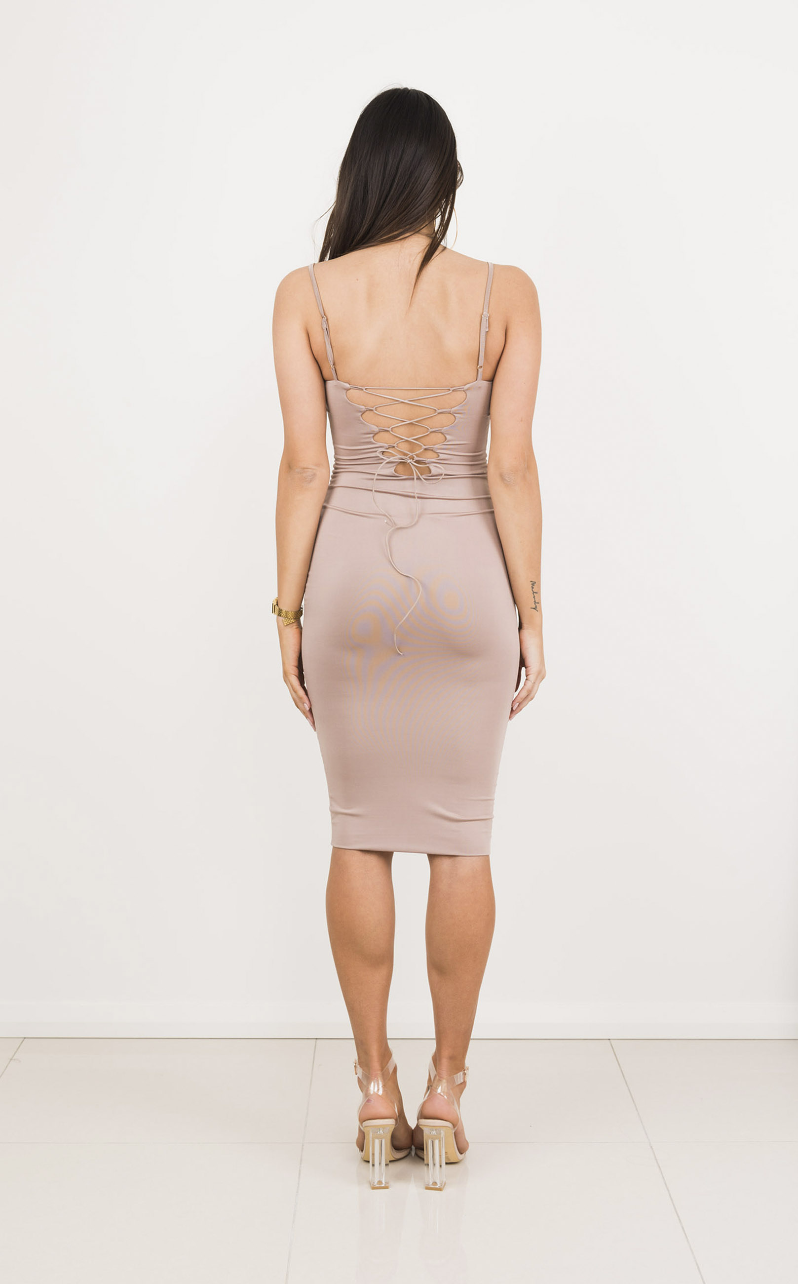 Before Sunset Dress in Nude