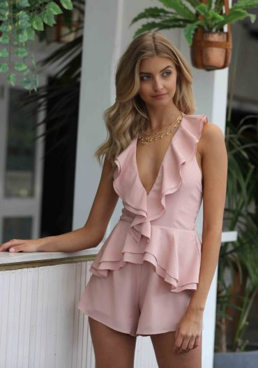 Winsome Girl – Troublemaker Playsuit in Blush 8
