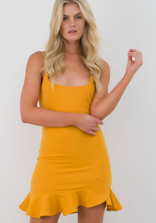 Winsome Girl – Spark the Fire Dress in Mustard1