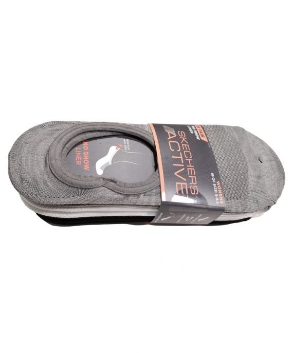 Skechers Active No Show Liner Grey Socks