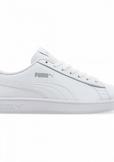 Puma Women's White Sneakers with Puma Logo